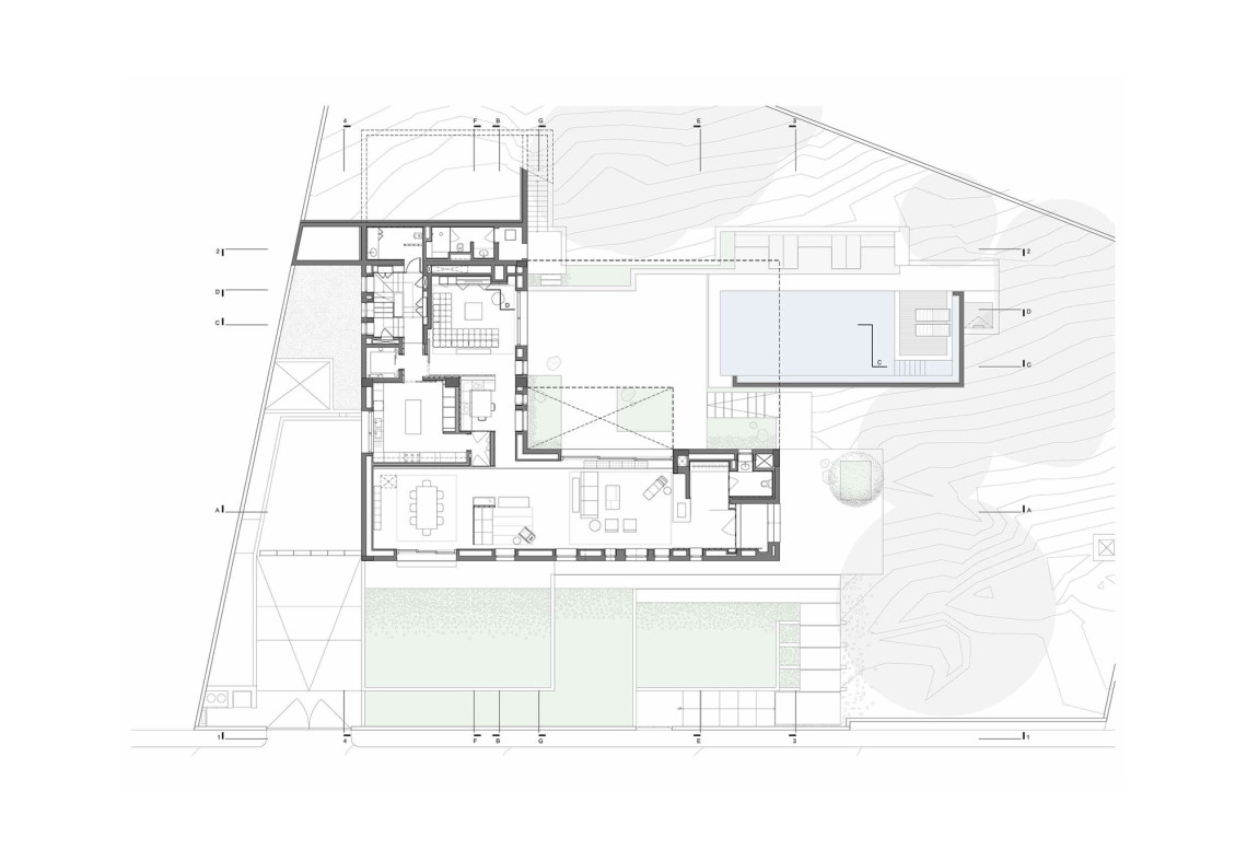 H.S. House - H.S. House : ground floor © Sahel Al Hiyari