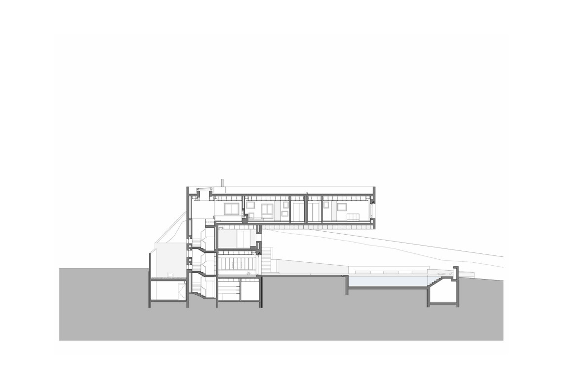H.S. House - H.S. House : horizontal section © Sahel Al Hiyari