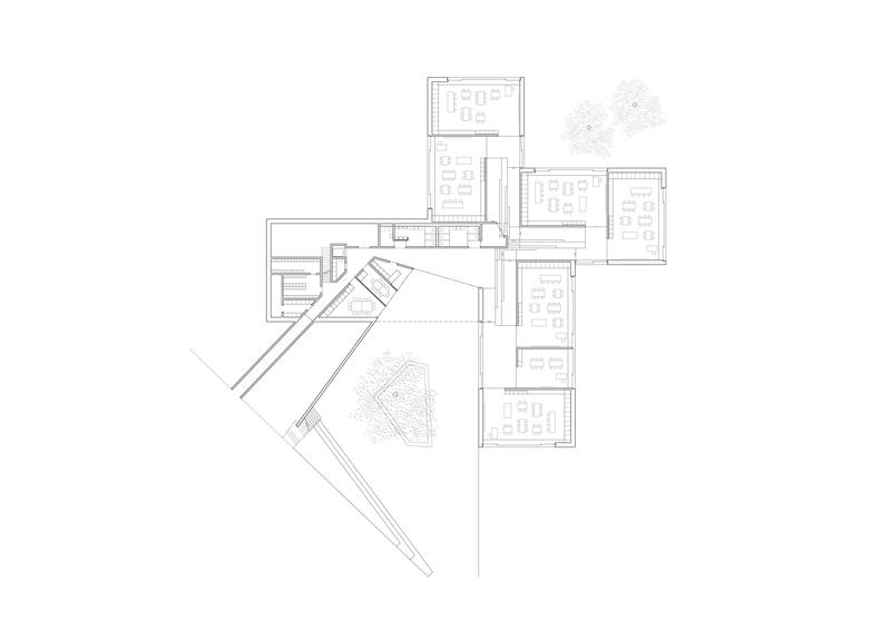 Kindergarten - Ground floor plan © PIERRE-ALAIN DUPRAZ