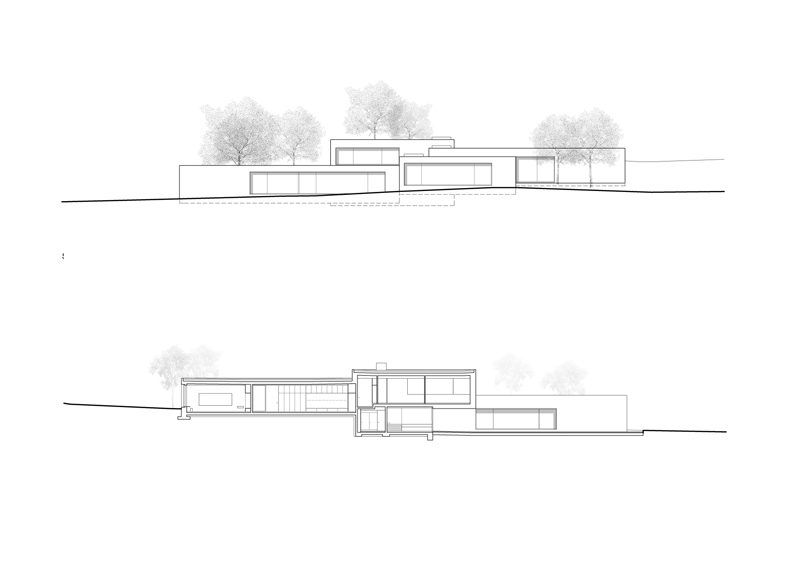Kindergarten - Section and elevation © PIERRE-ALAIN DUPRAZ