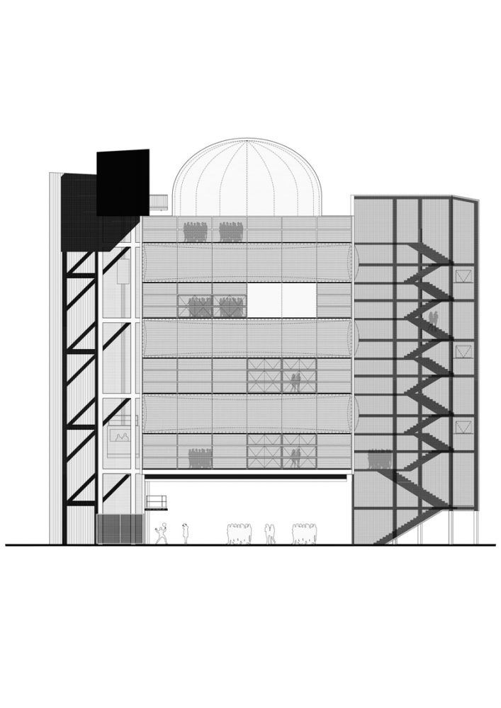 New Generation Research Center - Elevation © Bruther