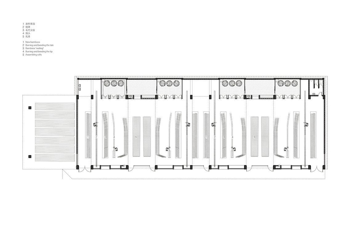 Wuyishan Bamboo Raft Factory - Workshop plan